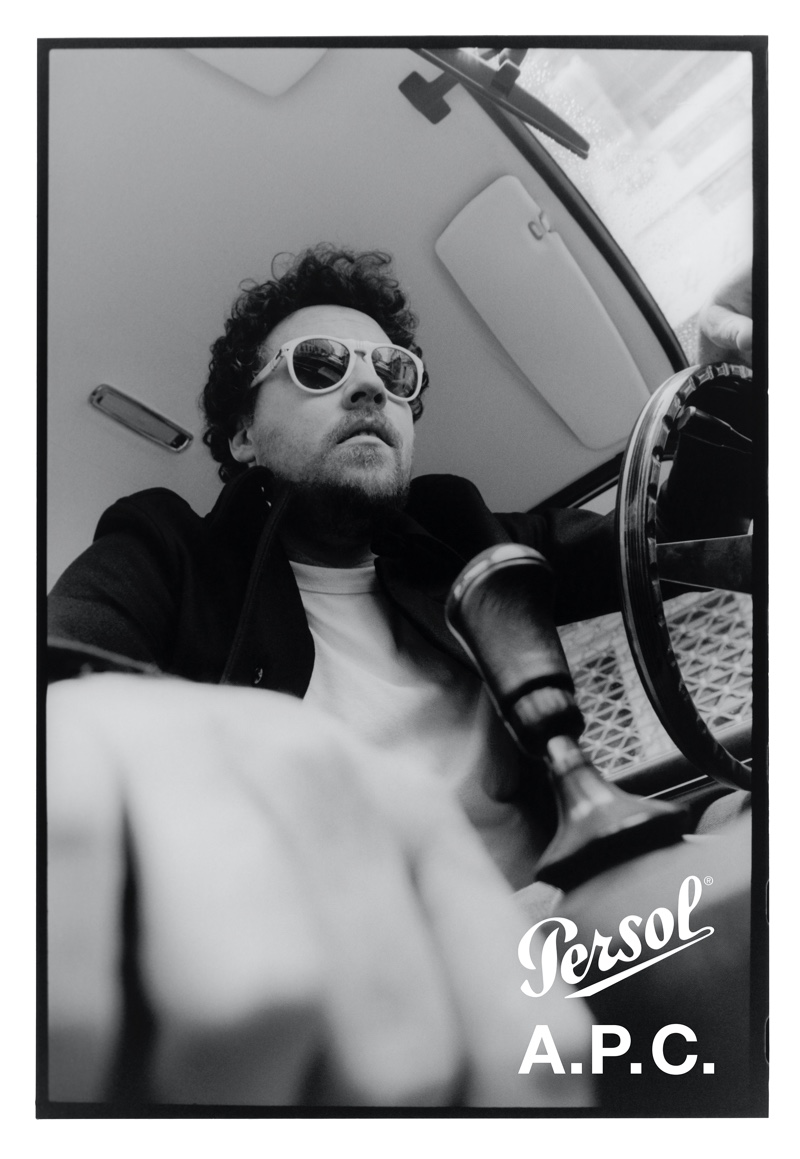 Metronomy frontman Joseph Mount appears in the Persol x A.P.C. campaign.