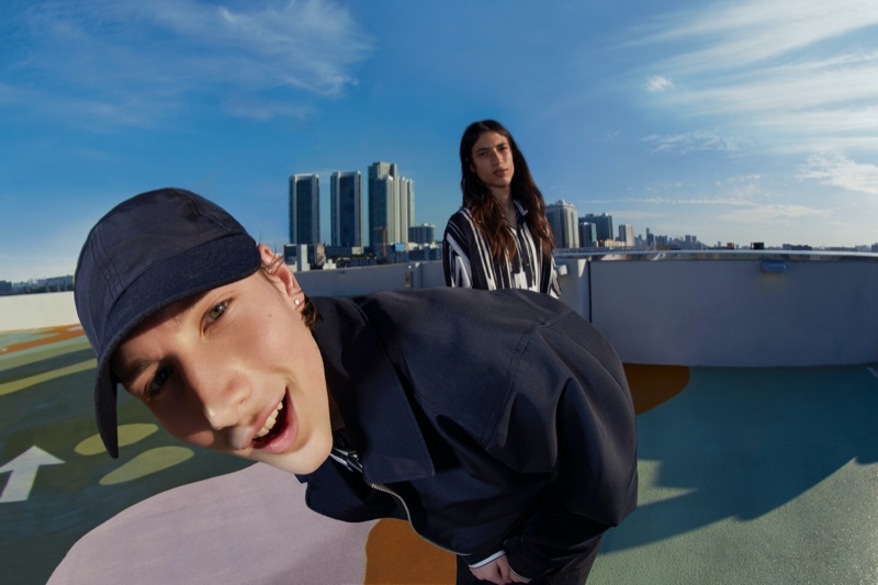 Pull & Bear enlists models Wellington Grant and Trystin Valentino to front its outing for its spring Urban collection.