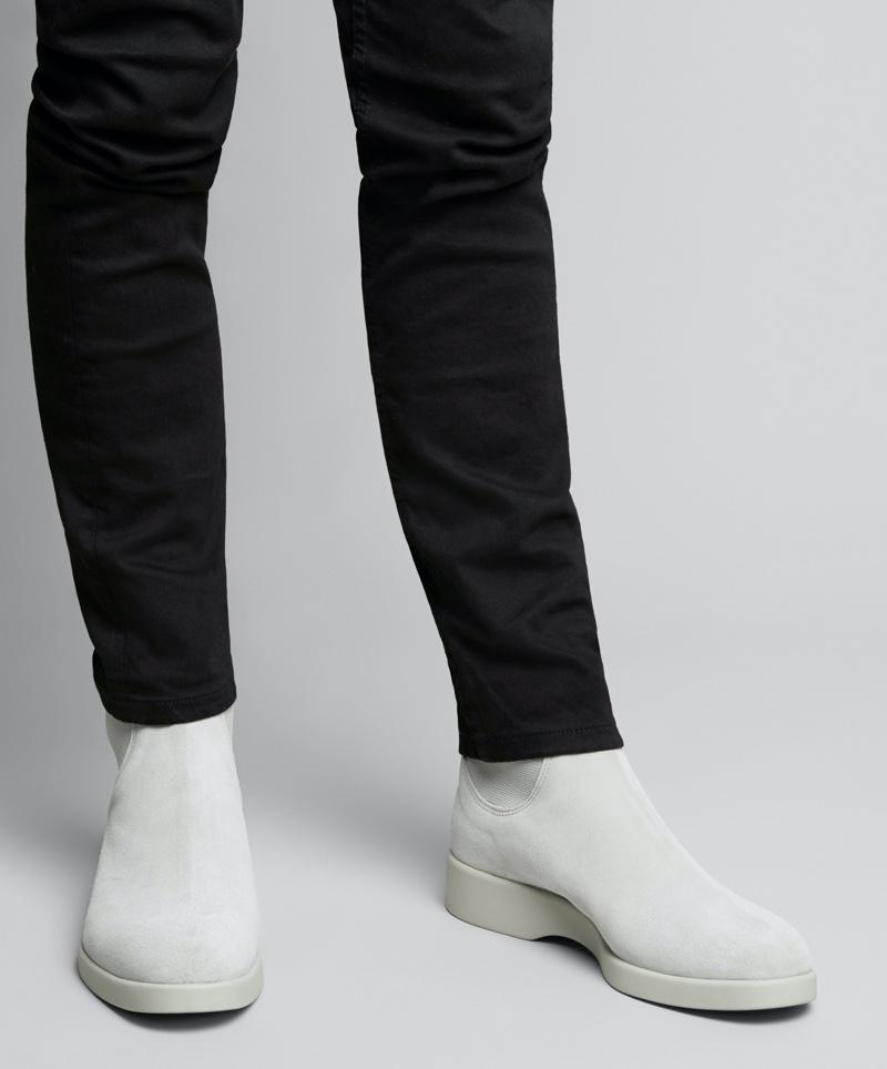 R.M. Williams Yard Boot 365 in white Italian suede