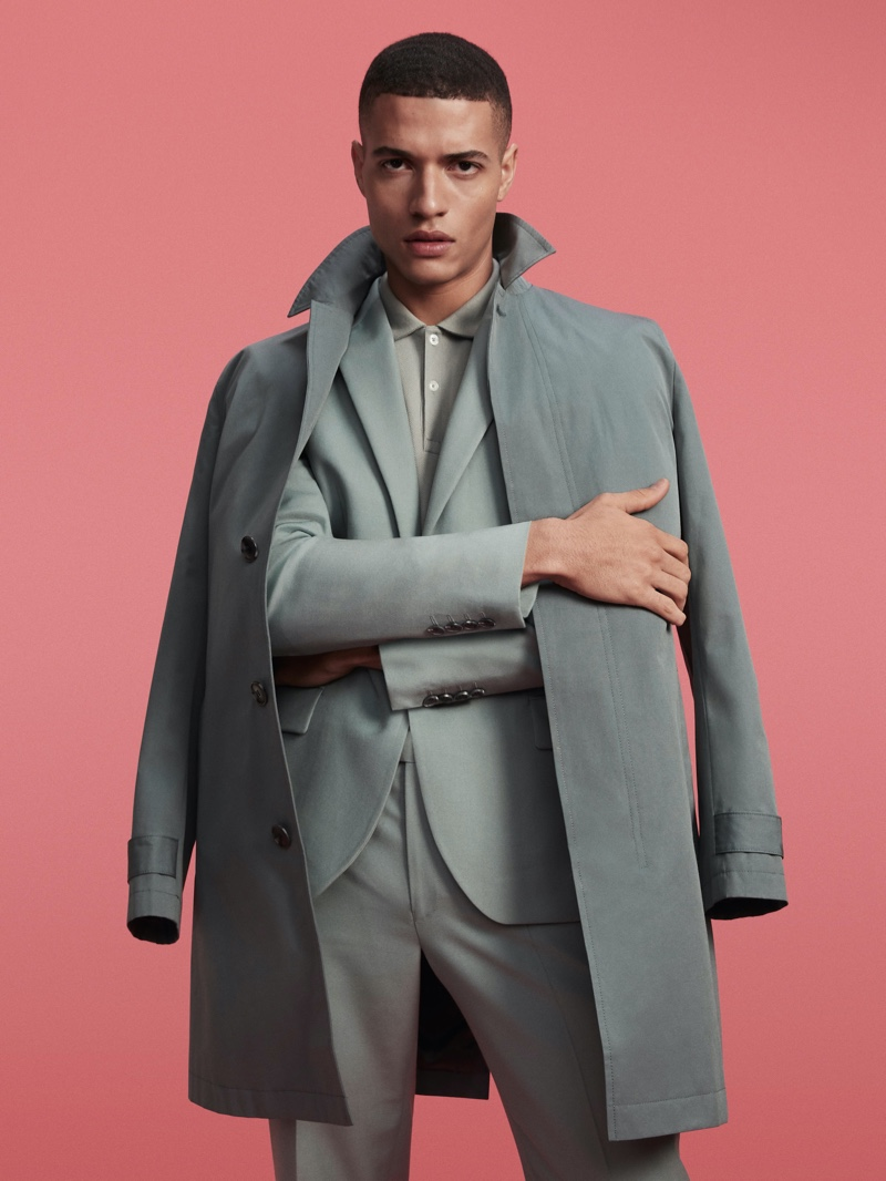 Front and center, Vincent Marc is a chic vision for River Island's spring 2020 campaign.