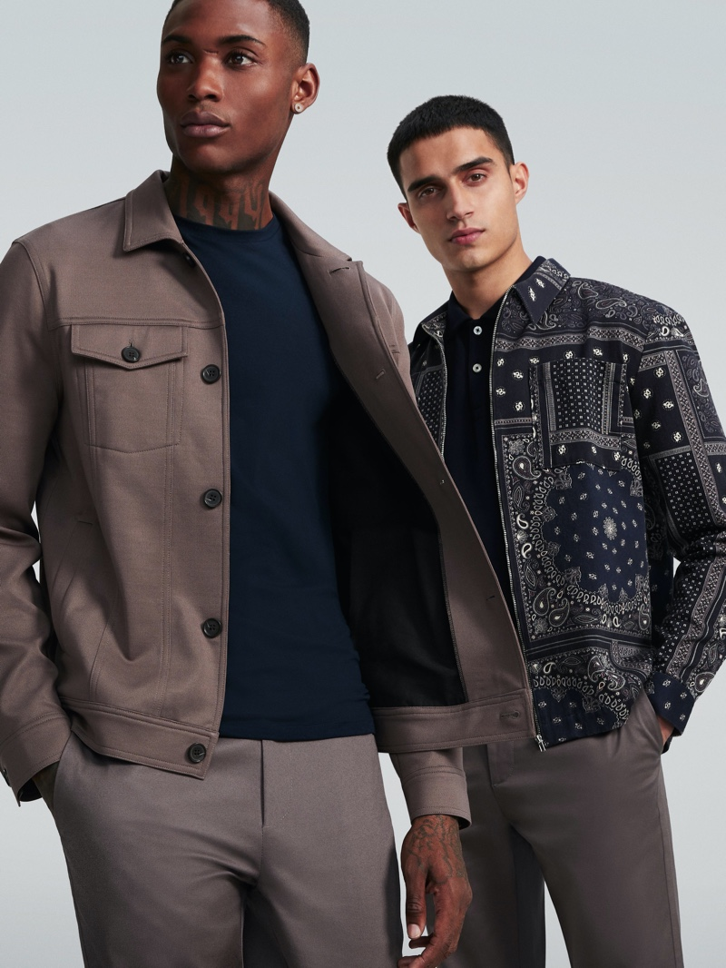 Karl Rawlings and Xavier Hickman front River Island's spring 2020 campaign.