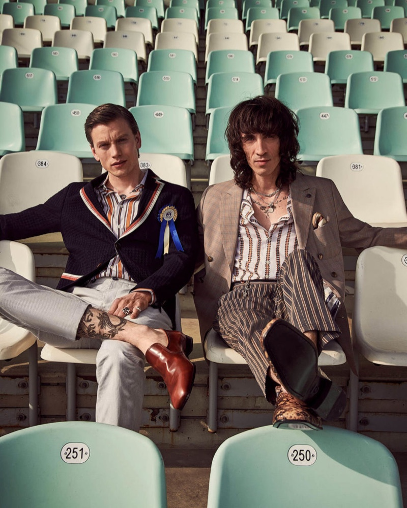 Picture perfect, Juan Milan and Sid Ellisdon link up with Savile Row by CG for spring-summer 2020.