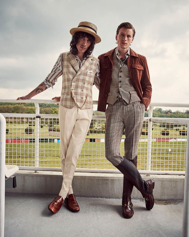Dressed for the races, Juan Milan and Sid Ellisdon charm in Savile Row by CG.