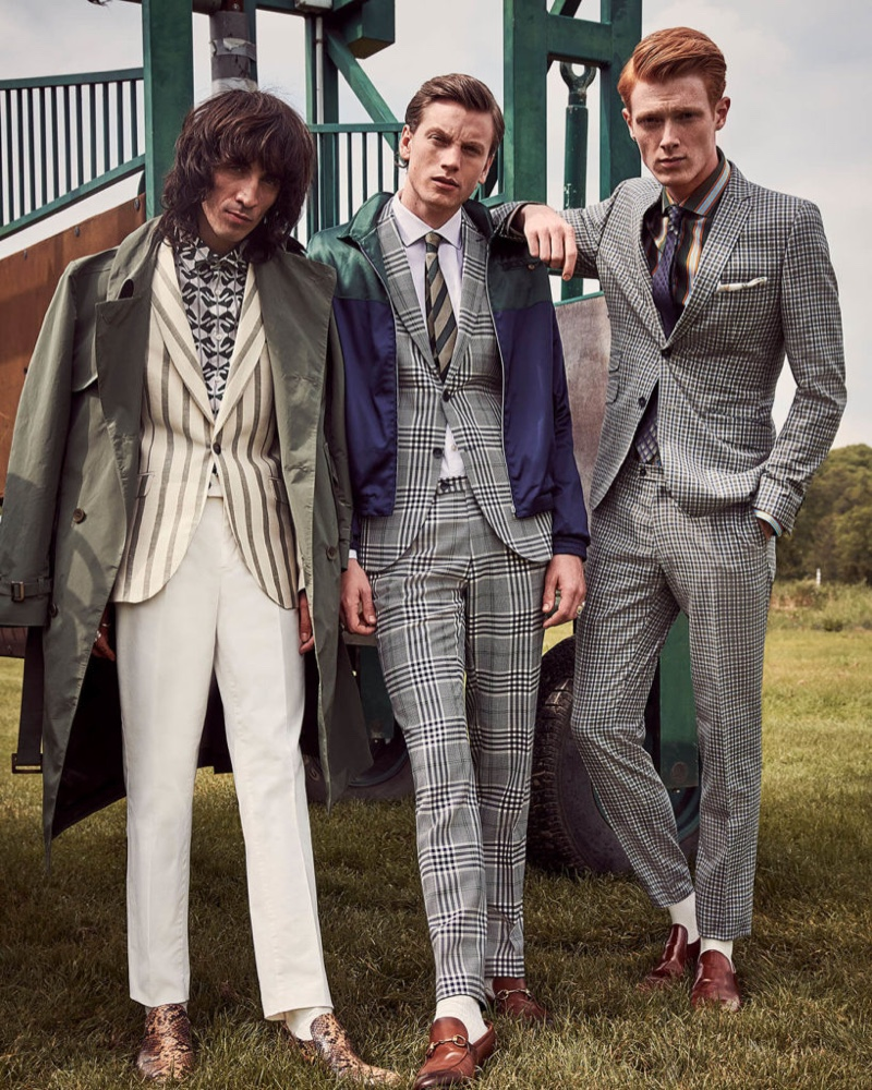 Savile Row by CG enlists Juan Milan, Sid Ellisdon, and Linus Wordemann to front its spring-summer 2020 outing.
