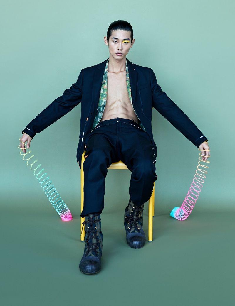 Tae Min Park Models Fendi for Dazed Korea Cover Story