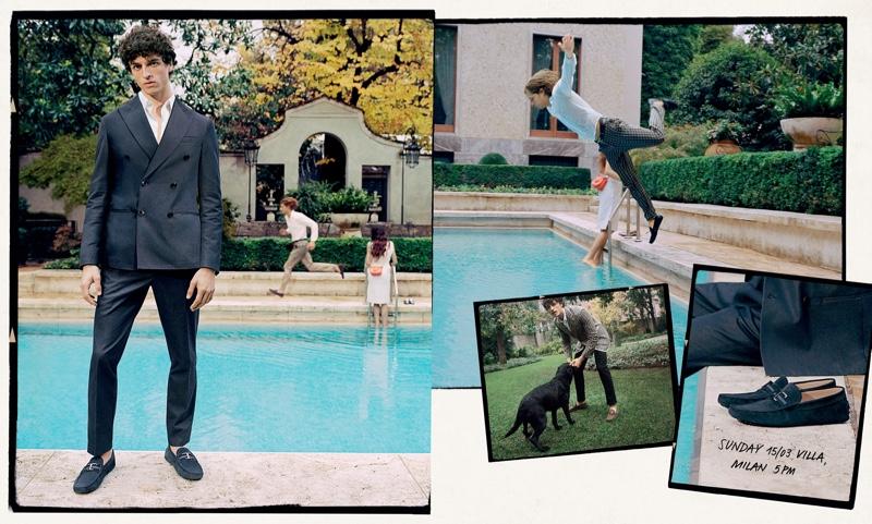 Vito Fernicola photographs Alberto Perazzolo for Tod's spring-summer 2020 campaign.