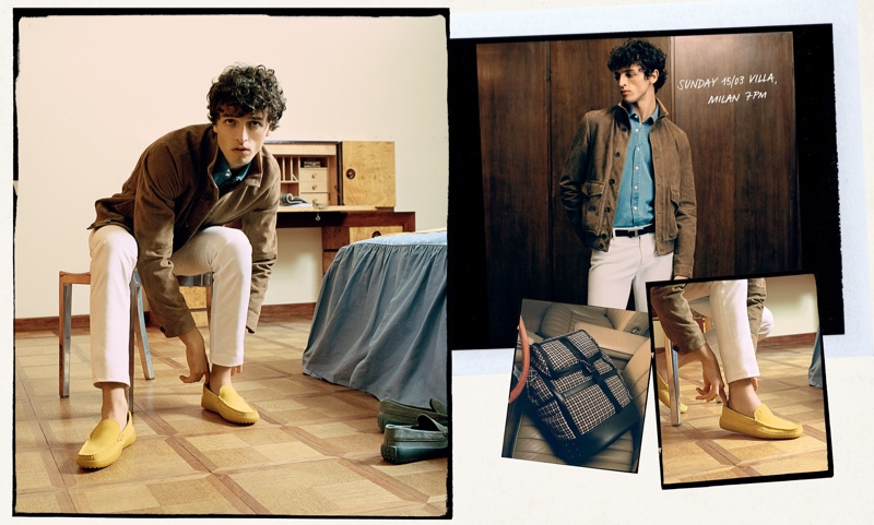 Tod's enlists Alberto Perazzolo as the star of its spring-summer 2020 campaign.