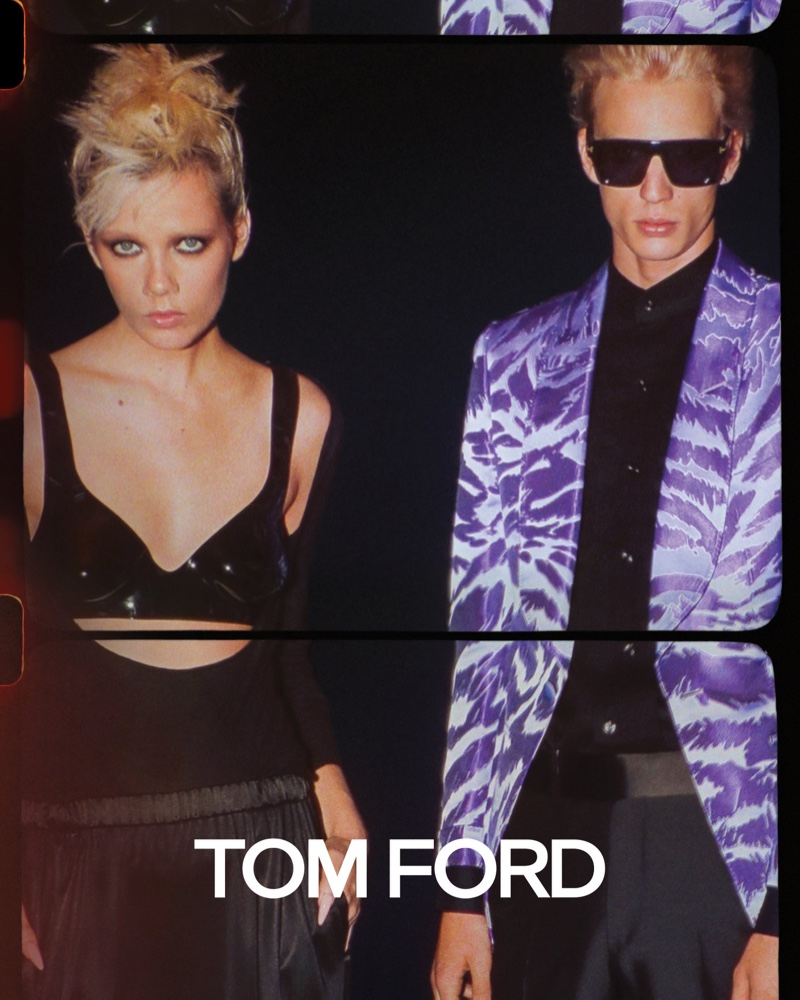 Marjan Jonkman and Chris Stelczer star in Tom Ford's spring-summer 2020 campaign.
