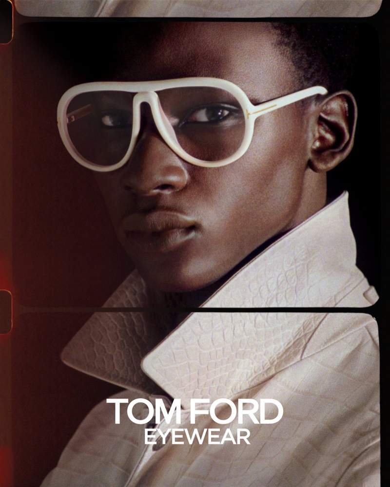 Tamsir Thiam fronts Tom Ford's spring-summer 2020 eyewear campaign.