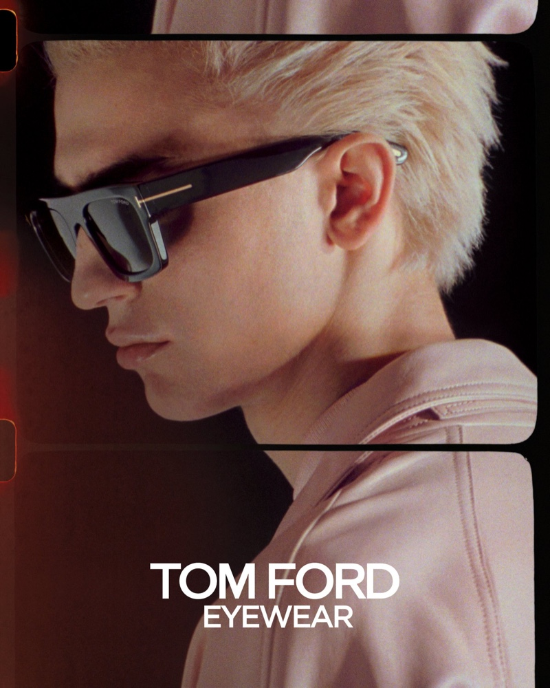 Tom Ford enlists Gena Malinin as the star of its spring-summer 2020 eyewear campaign.