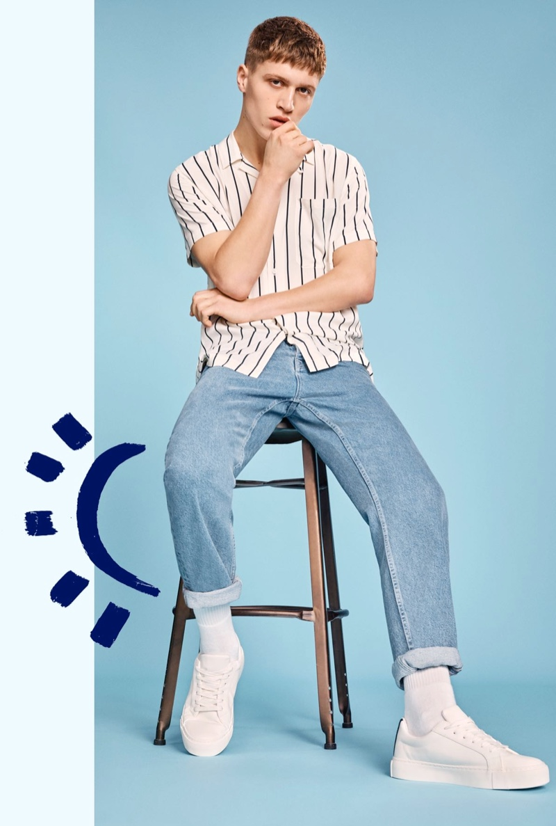Vincent Buffler sports relaxed jeans from Topman for its denim campaign.