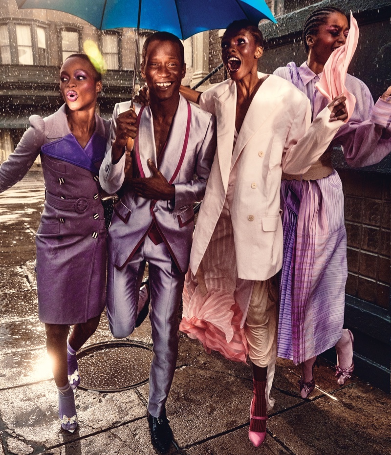 Hamid & Adonis Rock Bold Colorful Looks for WSJ. Magazine