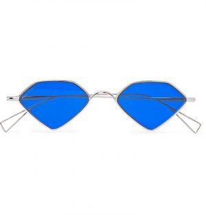 Acne Studios - Diamond-Frame Silver-Tone Sunglasses - Men - Silver