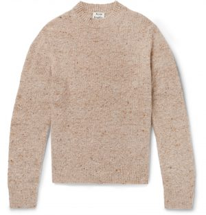 Acne Studios - Donegal Wool-Blend Sweater - Men - Brown
