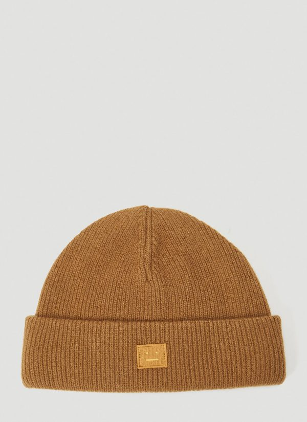 Acne Studios Kansy Knit Hat in Brown size One Size