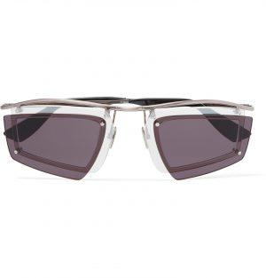 Acne Studios - Layered Aviator-Style Silver-Tone Sunglasses - Men - Silver
