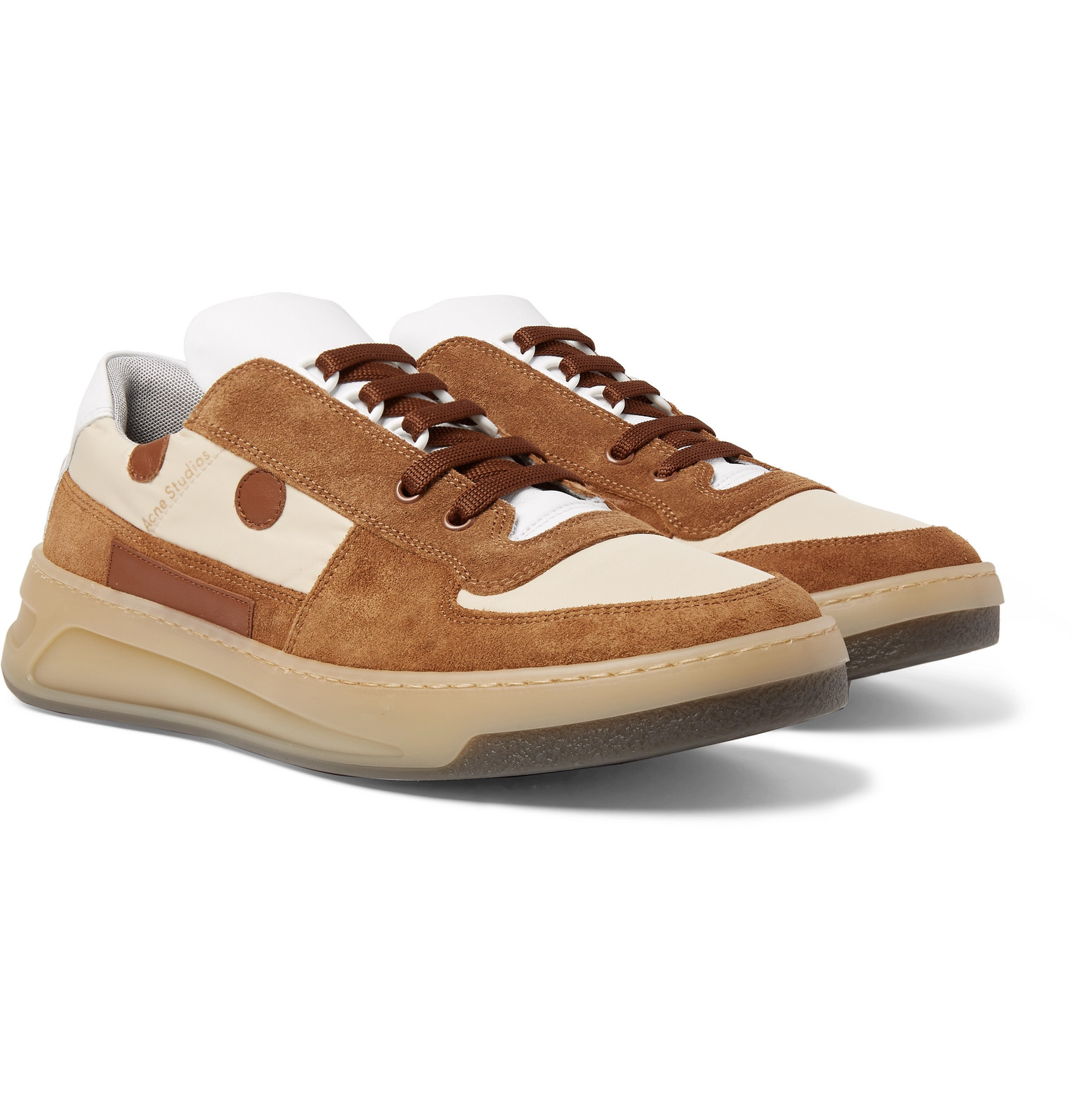 Acne Studios - Leather-Trimmed Suede