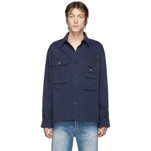 Acne Studios Navy Twill Vented Shirt