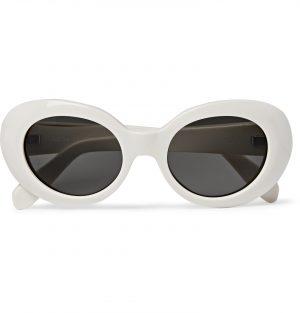 Acne Studios - Oval-Frame Acetate Sunglasses - Men - White