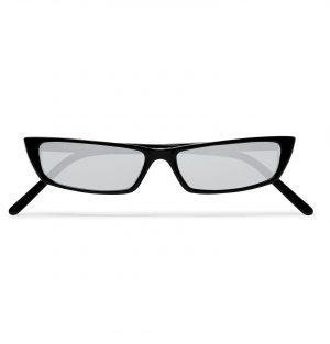 Acne Studios - Rectangle-Frame Acetate Mirrored Sunglasses - Men - Black