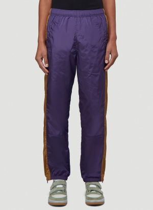 Acne Studios Striped Track Pants in Purple size M