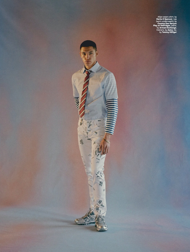 Mix Up: Allan Models Denim & Tailoring for Attitude