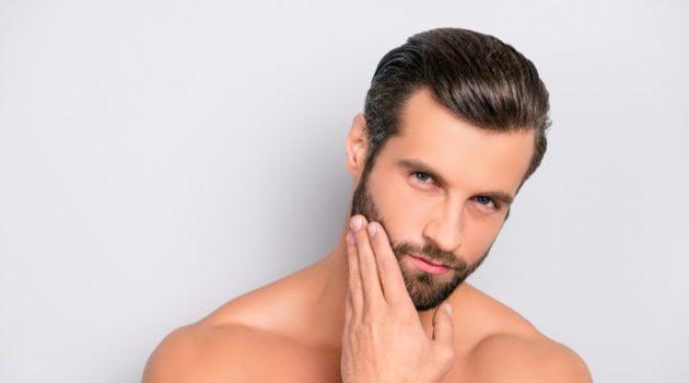 Attractive Male Model Beard Clear Skin Beauty Grooming