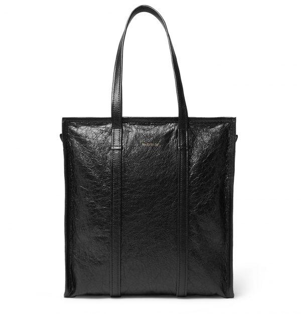 Balenciaga - Creased-Leather Tote Bag - Men - Black
