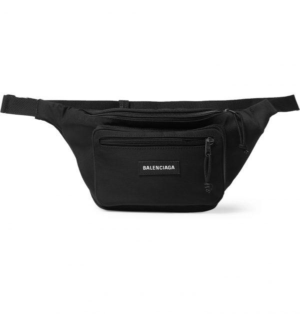 Balenciaga - Explorer Logo-Appliquéd Canvas Belt Bag - Men - Black