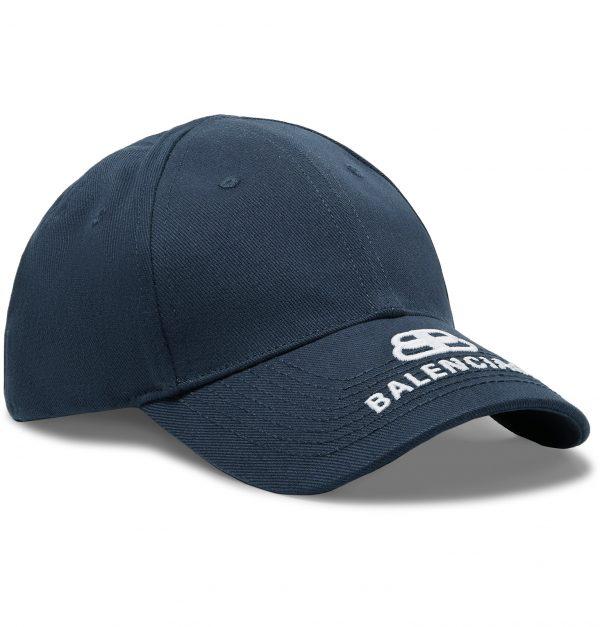 Balenciaga - Logo-Embroidered Cotton-Twill Baseball Cap - Men - Blue