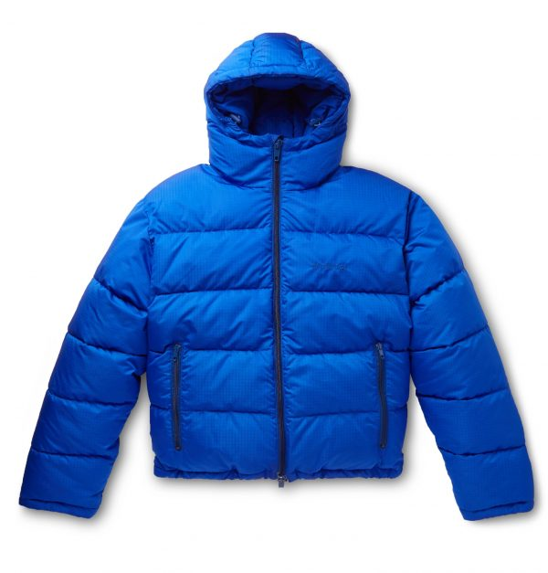 Balenciaga - Slim-Fit Quilted Ripstop Hooded Jacket - Men - Blue