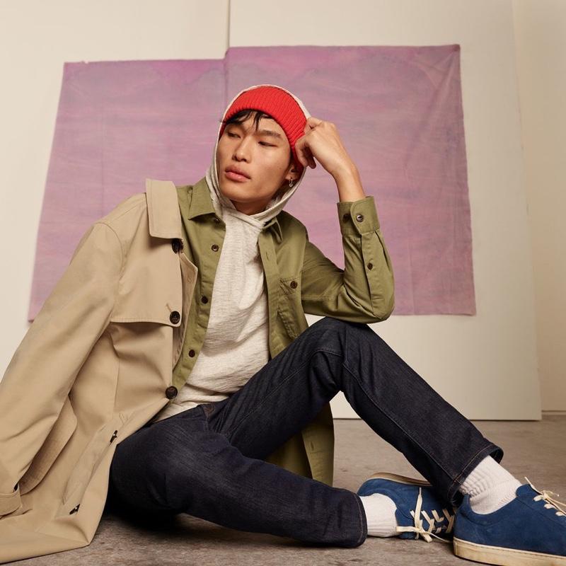Layering, Chun Soot showcases styles from Banana Republic.