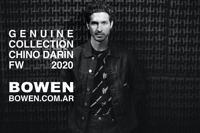 Chino Darin dons Bowen's Genuine collection for the brand's fall-winter 2020 campaign.
