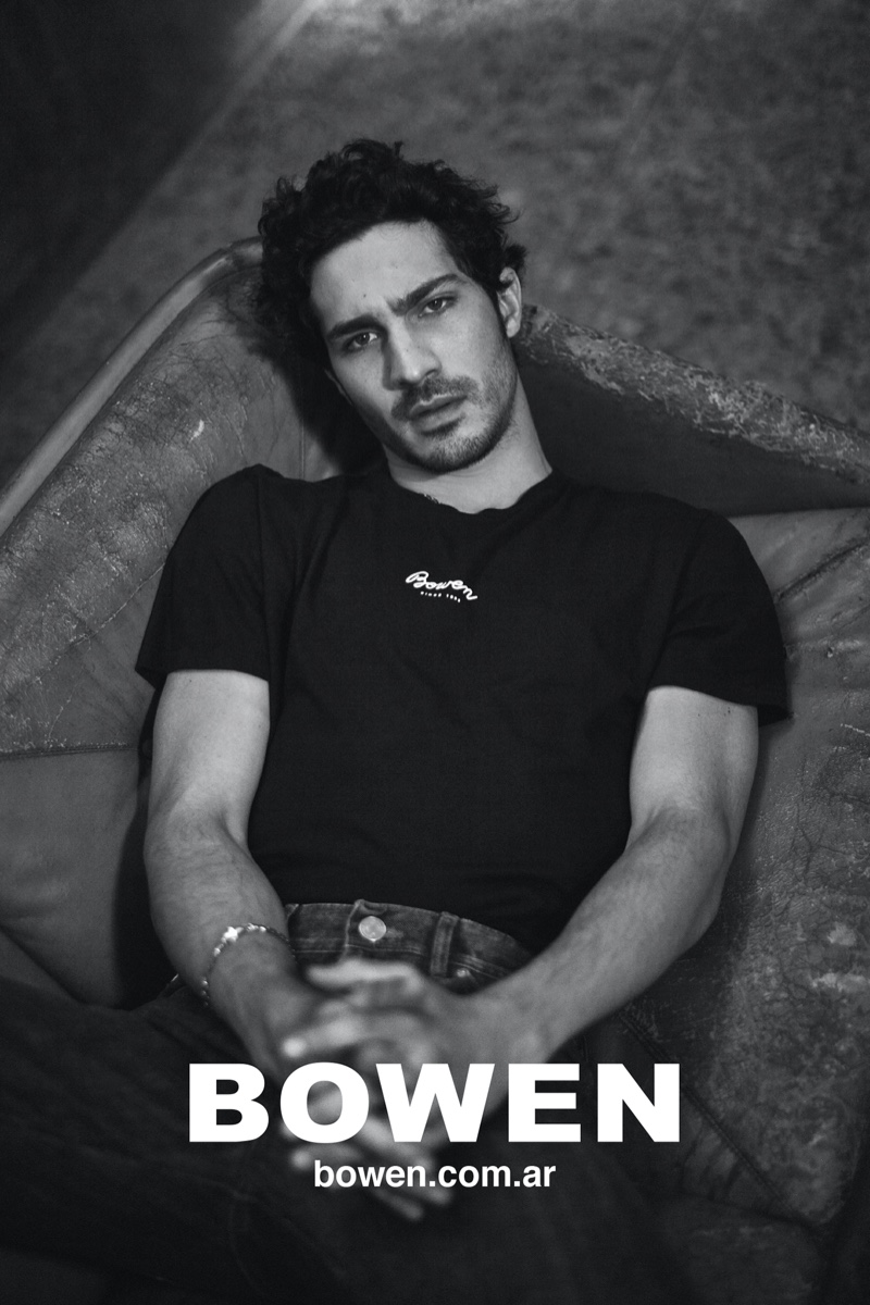 Argentine actor Chino Darin reunites with Bowen for its  fall-winter 2020 campaign.