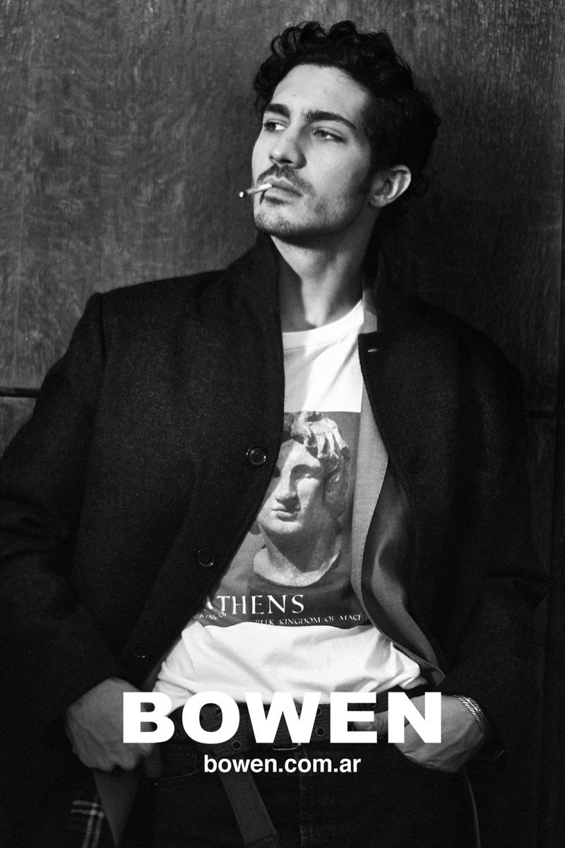 Actor Chino Darin stars in Bowen's fall-winter 2020 campaign.