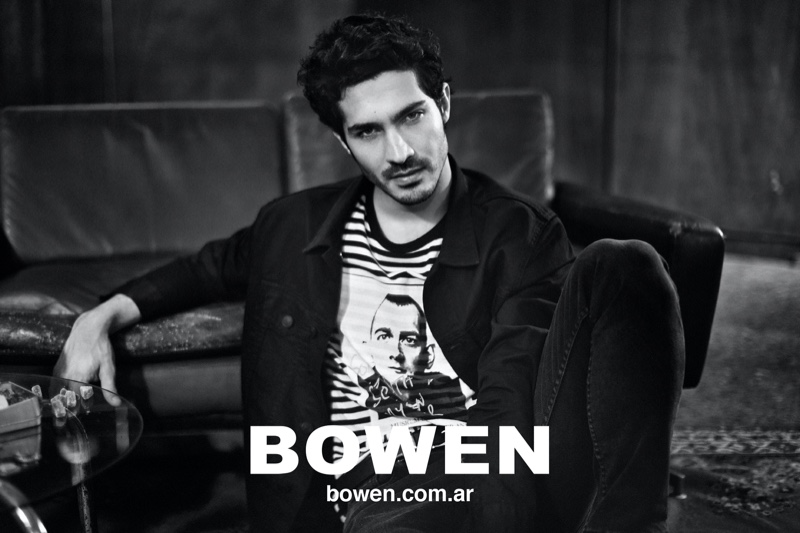 Front and center, Chino Darin appears in Bowen's fall-winter 2020 campaign.