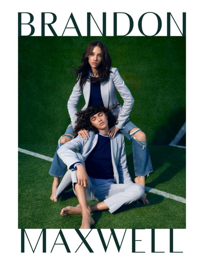 Brandon Maxwell enlists Anyelina Rosa and Jack Pililaau as the stars of its spring-summer 2020 campaign.