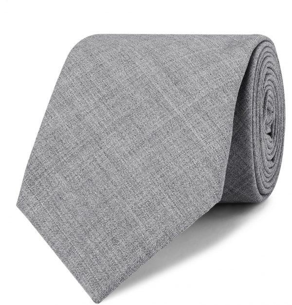 Brunello Cucinelli - 7cm Mélange Virgin Wool Tie - Men - Gray