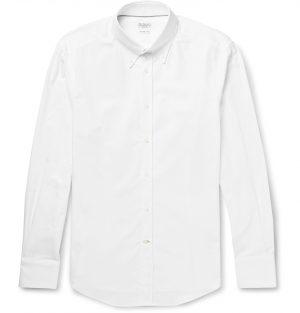 Brunello Cucinelli - Button-Down Collar Cotton Shirt - Men - White