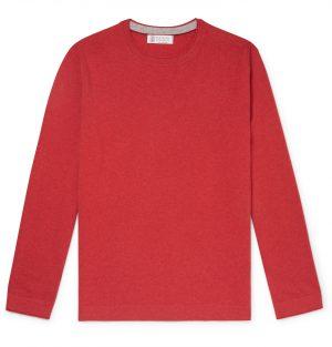 Brunello Cucinelli - Cashmere Sweater - Men - Red