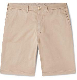 Brunello Cucinelli - Cotton-Blend Twill Shorts - Men - Neutrals