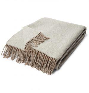 Brunello Cucinelli - Fringed Cashmere Blanket - Men - Gray