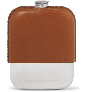 Brunello Cucinelli - Leather Hip Flask - Men - Brown