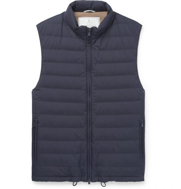 Brunello Cucinelli - Quilted Shell Down Gilet - Men - Blue