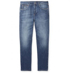 Brunello Cucinelli - Slim-Fit Denim Jeans - Men - Blue