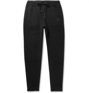 Burberry - Tapered Cashmere-Blend Sweatpants - Men - Black