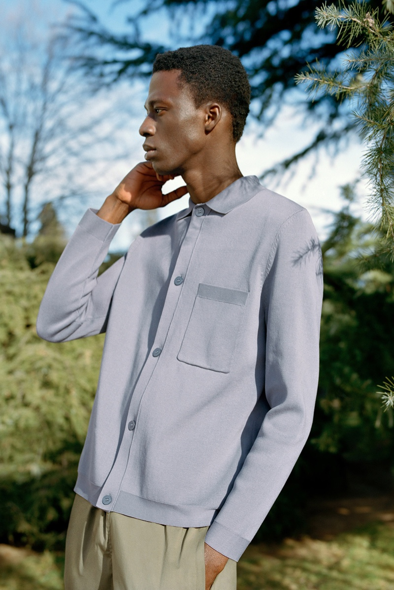 A chic spring vision, Cherif Douamba wears COS.