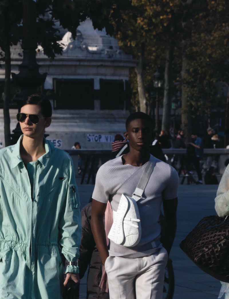Nika, Maurice & Ceesay Take to Parisian Streets for CR Men