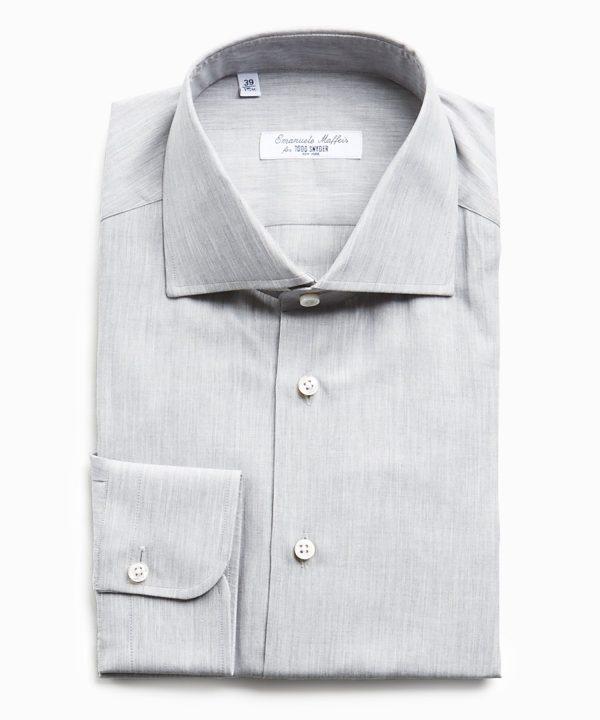 Camiceria E. Maffeis Solid Cotton Shirt in Grey