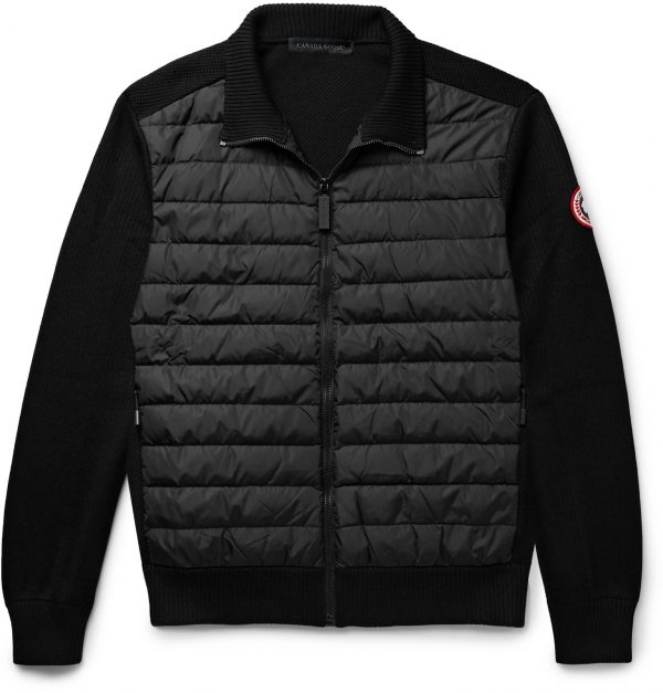 Canada Goose - HyBridge Quilted Down Shell and Merino Wool Jacket - Men - Black